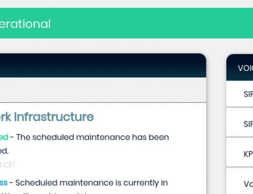 Release: Netwerk Status voor Technische updates, status van systemen, storingen, onderhoud en werkzaamheden